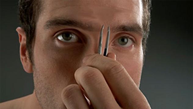 depilación de cejas masculina